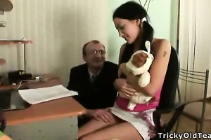 marvelous brunette hair acquires screwed by her