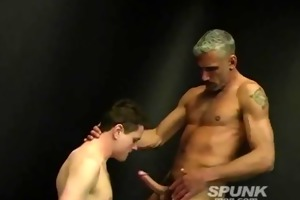 concupiscent dad stuffing his giant dick down