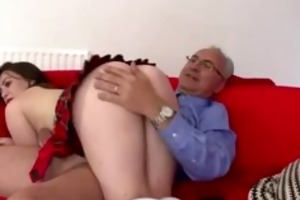 mature boy spanks wicked schoolgirl