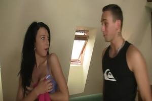 bf finds her riding his bros ramrod
