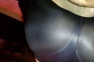 leggins lapdancing over my jock and her hose