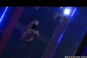 youthful breasty teen strippers muff drilled by