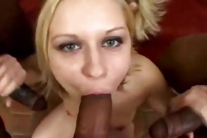 golden-haired daughter brutally anal screwed for