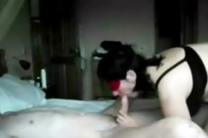 blindfold sister blowing me