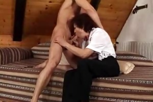 younger stud does mature woman