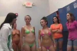 mud wrestling and legal age teenager shower