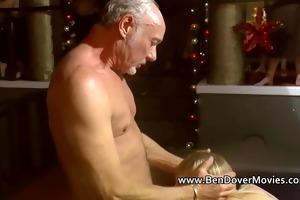 grand-dad ben copulates a cute cuffed legal age
