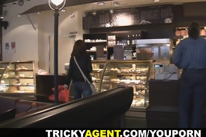 tricky agent - hiding from the rain a brunette