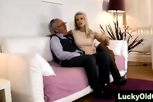 young angel in nylons positions for mature