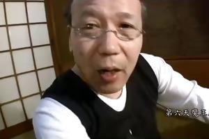 japanese grandpa and youthful gal - unc