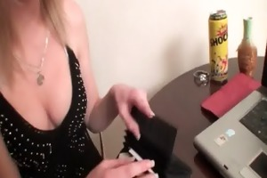 this chap asks her to show three-some