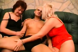 sexy aged babes taking turns