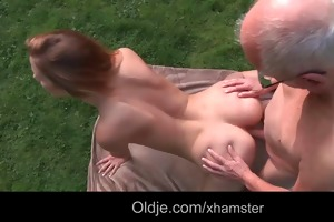grandpa cleans alexiss hairless youthful wet crack