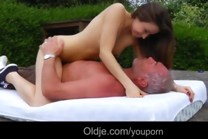 hunk senior fuck with soft and youthful taissia