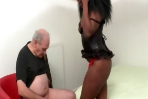 old grandpa doing a french darksome whore in
