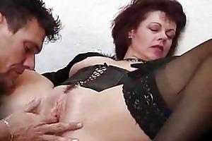 juvenile boy receives schooled by an mature woman