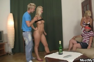 his dad ass fucking his gfs cunt