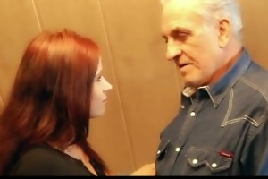 grandpapa acquires raunchy thanks from hussy