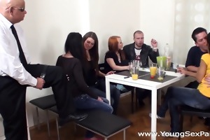youthful sex parties - sex party with older