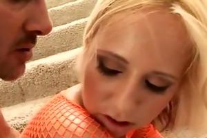 blond teen daughter anal drilled hard