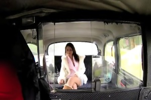 faketaxi enchanting brunette falls for sugar dad