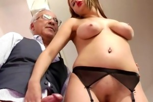golden-haired euro women anal joy with old dude