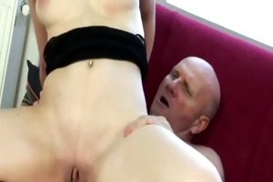 old man got himself a youthful girl to fuck