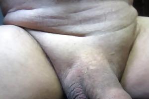 65 year old older man cums