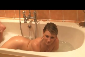 step-sister in bathroom