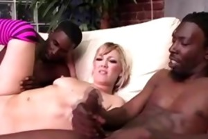 interracil candy monroe receives double facial
