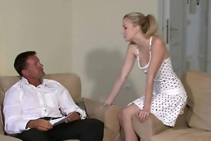 juvenile golden-haired cheats with her bfs daddy