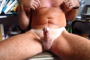 grandpapa handles his 75 year old circumcised dong