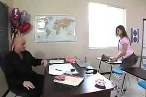 slutty student tells her teacher about her crush