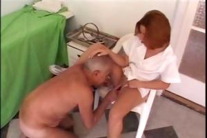mature guy copulates youthful nurse