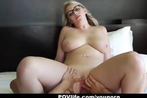 povlife - sunny hart acquires a sticky facial