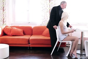 blond legal age teenager tanya surprised by the