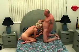 juvenile lewd slut engulfing old mans knob