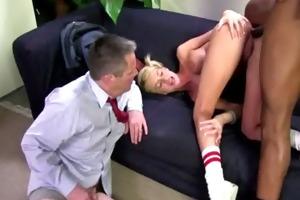 dark thug pumps youthful pigtail blondies wazoo