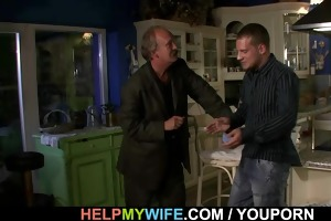 old hubby needs assist to group sex his youthful