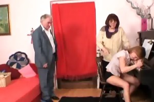 honey has enjoyment with old couple