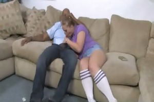 juvenile gal makes love with darksome guy 20