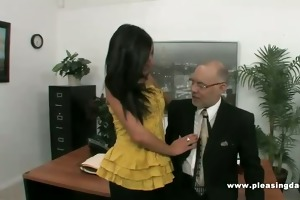 old boss bonks juvenile hot secretary