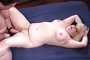wicked corpulent playgirl taking old daddy pounder