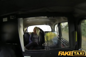faketaxi juvenile blond takes on old rod