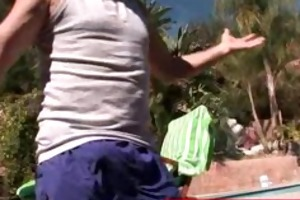 grand-dad massaging a pleasing juvenile a-hole