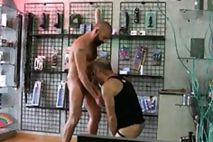 bears fucking in the sexshop