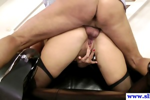 spruce british hottie tastes old stud cum